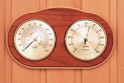 Sauna Thermometer, Hygrometer