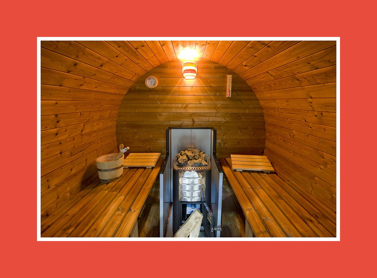 Sauna bauen runde Sauna