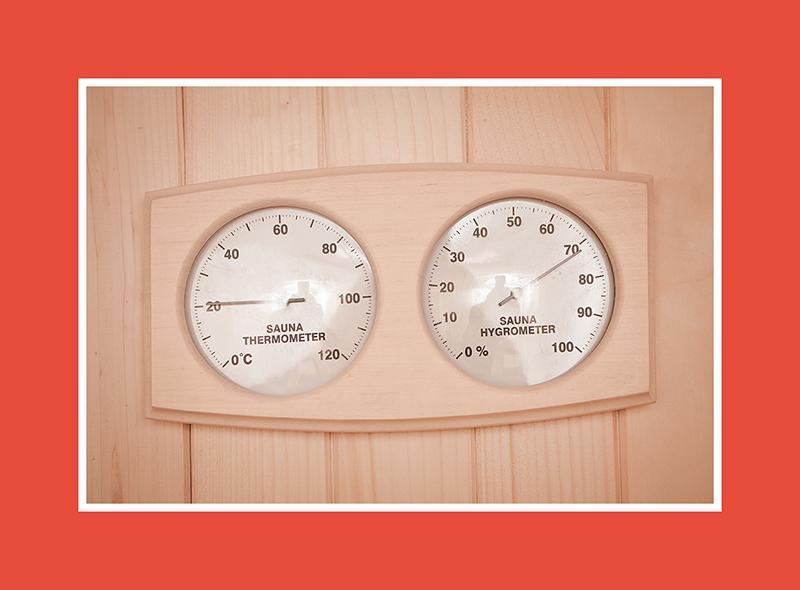 Das Saunathermo – und Hygrometer – alles Einfache ist genial