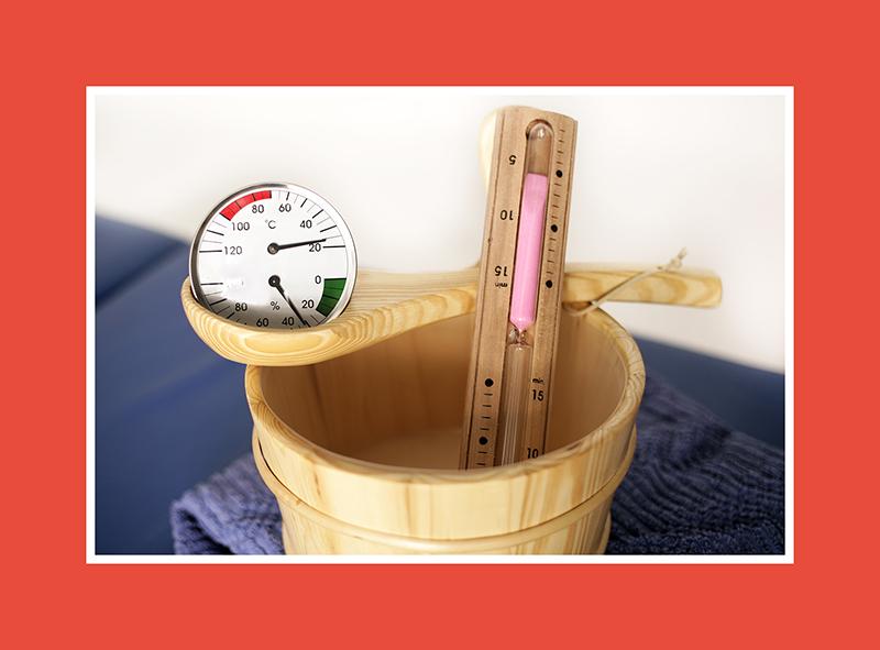 Das Saunathermo – und Hygrometer in einem Set – für das kreative Saunabaden