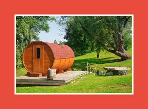 Sauna Zubehör runde Sauna