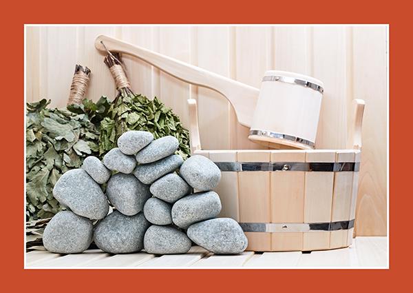 Geschliffene Saunasteine aus Speckstein oder Vulkangestein