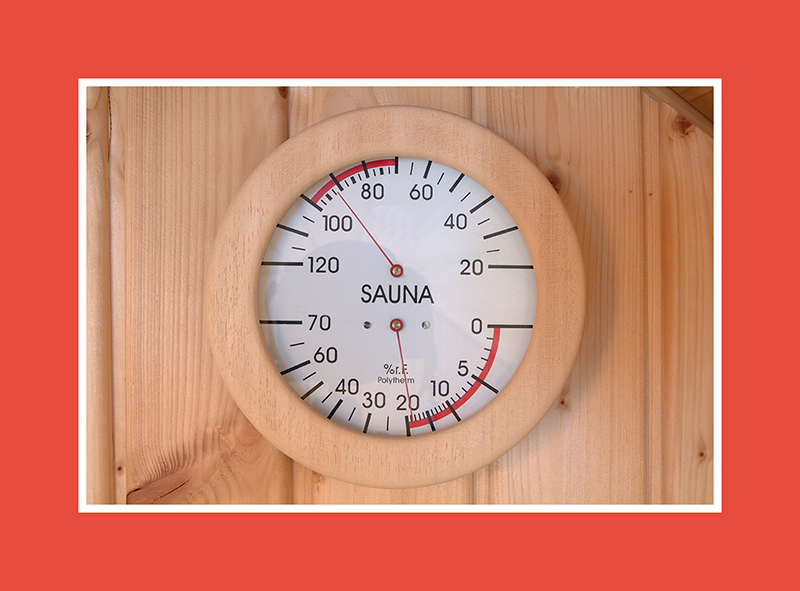 Saunahygro – und Thermometer – 2 in 1.