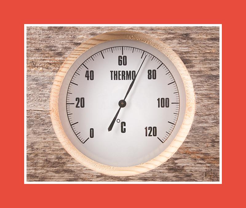 Saunathermometer als praktische Lösung