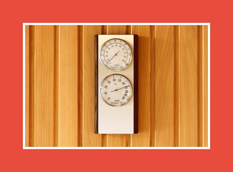 Saunathermometer und Saunahygrometer – die Temperatur unter Kontrolle