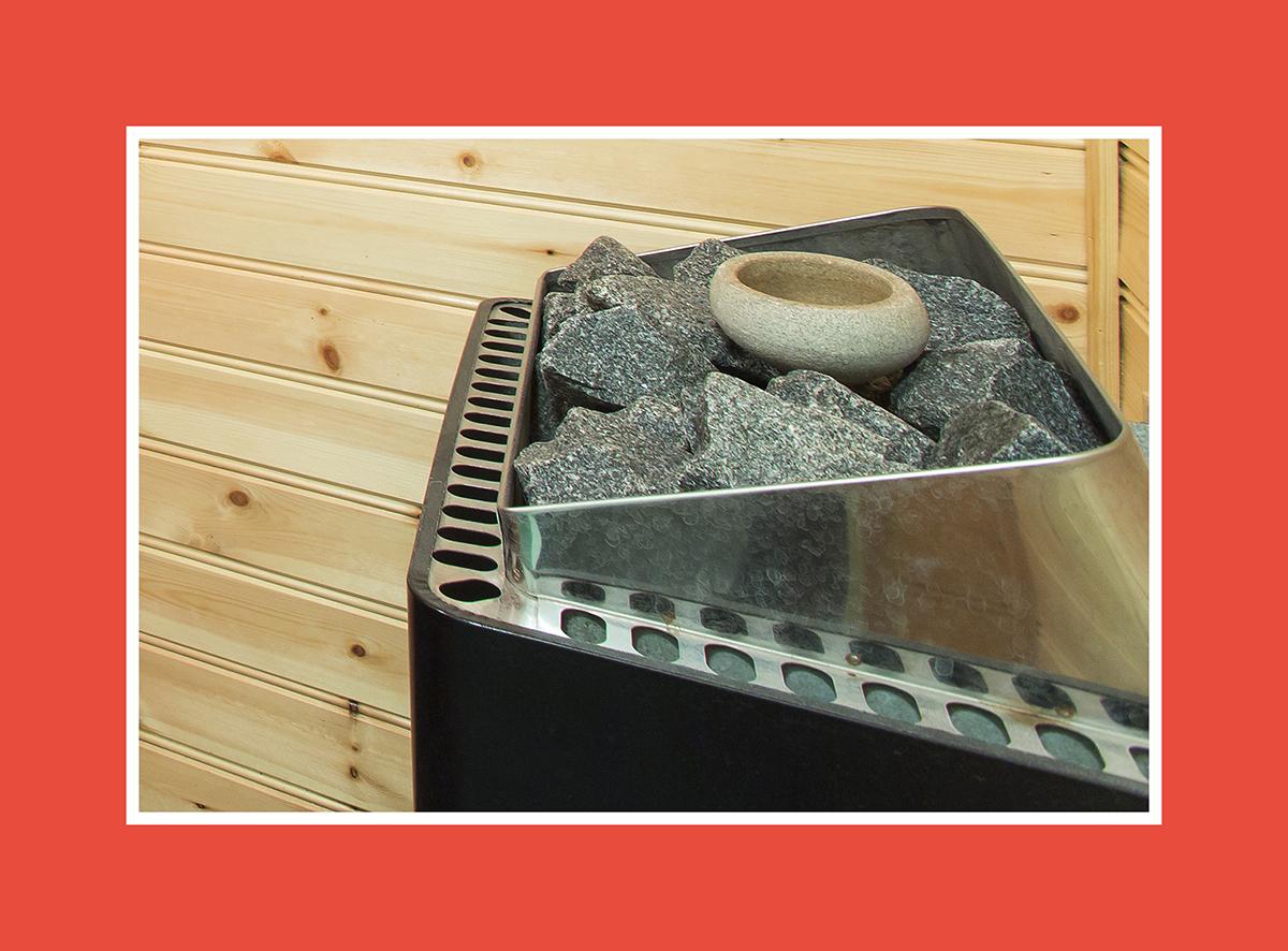 Saunaverdampfer für effiziente Lufterhitzung