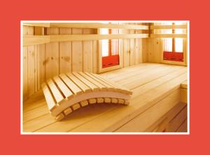 Saunazubehör Kopfstütze für Saunaaus Holz
