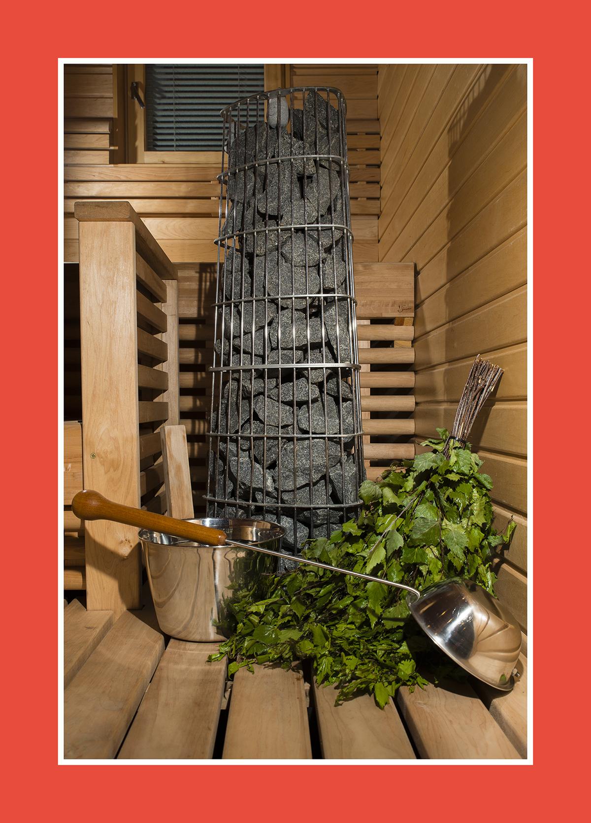 Der runde Saunaofen: Modern und traditionell