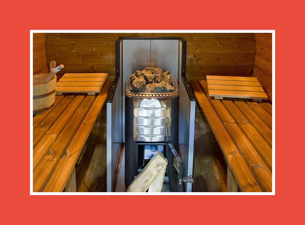 Holzbefeuerter Saunaofen: Die Sicherheit zählt