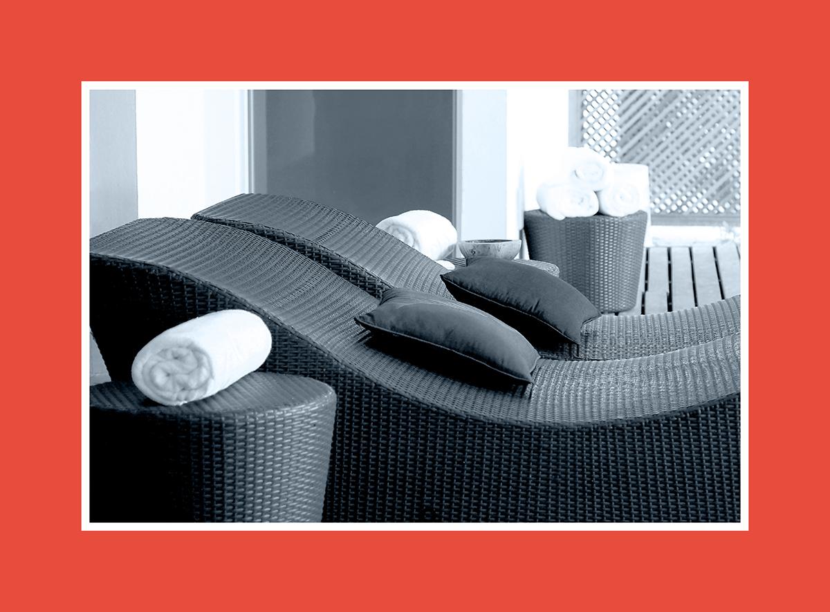 Sauna-Relaxliege: Entspannt und elegant