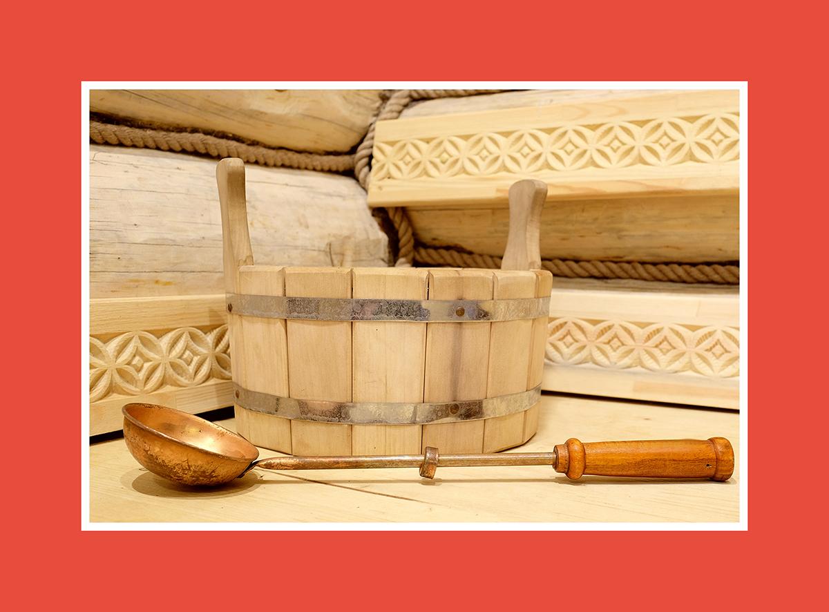Saunakelle mit kunstvollem Handgriff – Geist der Tradition