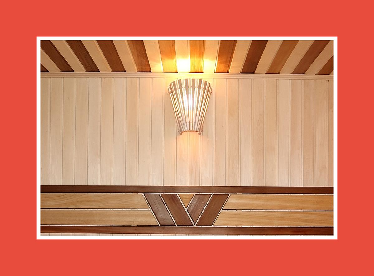 Saunazubehör für die Wand – weg vom direkten Licht