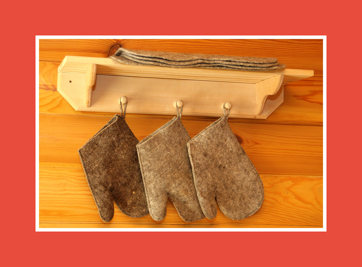 Saunazubehör Sauna Handschuhe 1