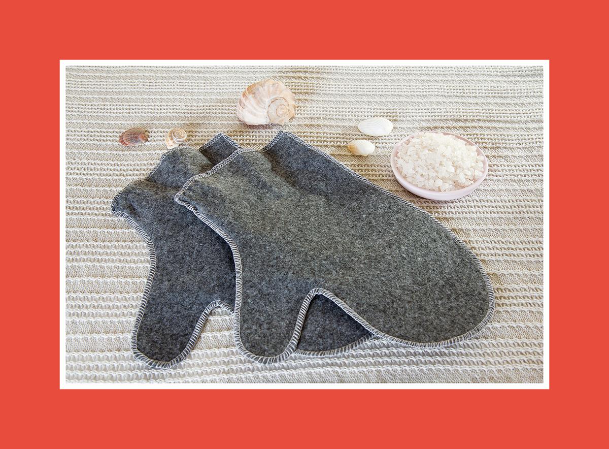 Saunazubehör Sauna Handschuhe 2