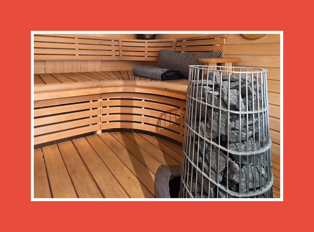 Saunazubehör Saunaofen rund 2
